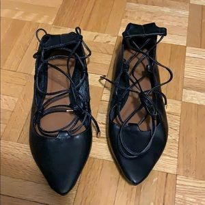NEVER WORN Old Navy lace-up flats